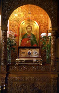 Икона святого мученика Авраамия Болгарского и ковчежец с его мощами