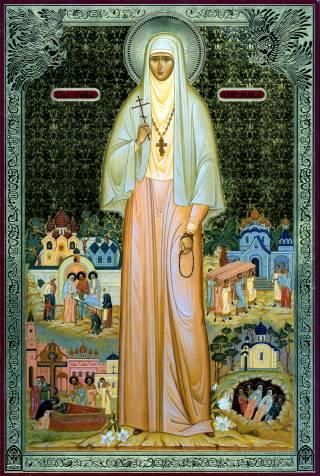 Икона святой преподобномученицы Елисаветы
