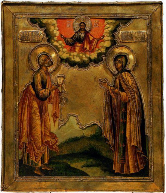 Икона «Святые апостол Петр и ...: vidania.ru/icon_novodevich.html
