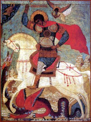 Икона вмч. Георгия Победоносца. Середина XVI в. ГТГ.