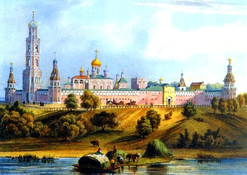 Древо - иллюстрация: Московский Симонов монастырь.  Картина XIX века.