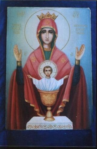 """Чествование находящейся сейчас в Высоцком монастыре в Серпухове иконы  """"Неупиваемая Чаша """" совершается 18 мая."""
