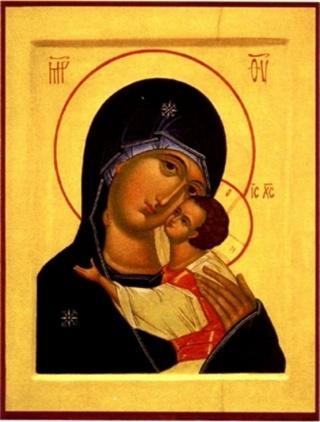 """Богородица с умилением склоняется...  На иконах  """"Умиление """" обычно приводится поясное изображение Божией Матери с..."""