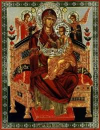 Икона Матери Божией ПАНТАНАССА (ВСЕЦАРИЦА) Полиграфическая.  Удалить.  Не показывать.