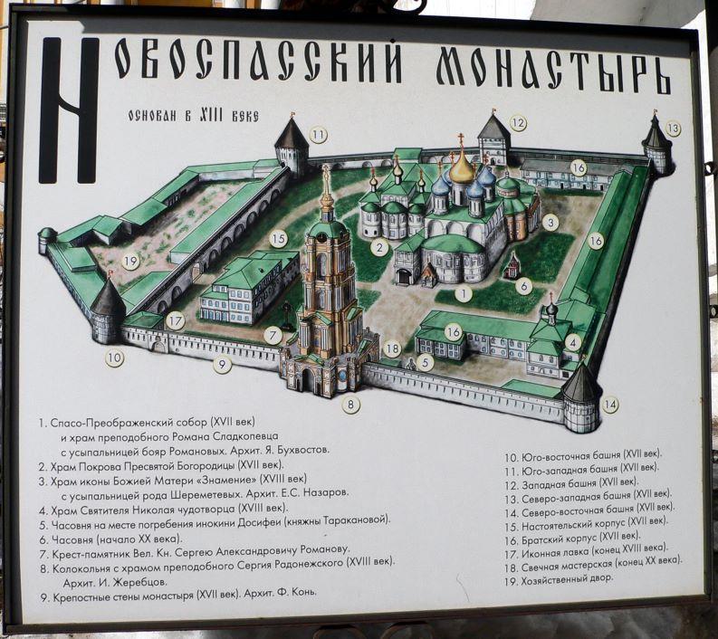 План Новоспасского монастыря.