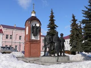 Липецкая область, Елец, Памятный знак в честь 850-летия города Ельца.