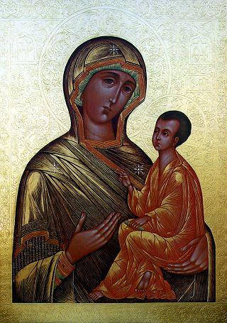 Тихвинская икона Божией Матери. Начало XXI века.