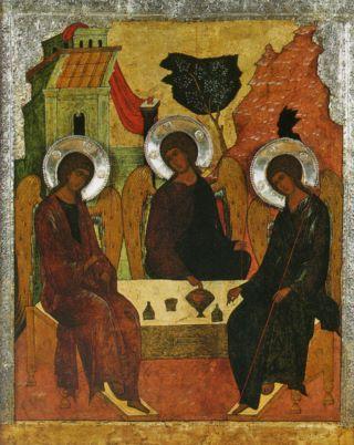 Икона троица ветхозаветная конец xvi
