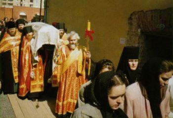 Встреча мощей блаженной Матроны в Покровском монастыре