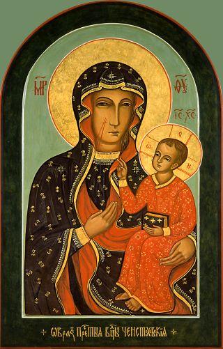 Ченстоховская икона Божией Матери. Галерея икон Щигры.
