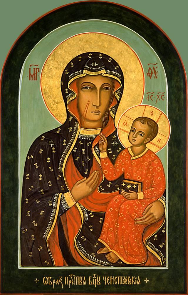 ... икона Божией Матери. Галерея икон: vidania.ru/icony/icon_chestonhovskaya.html