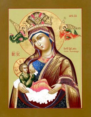 Млекопитательница икона Божией Матери. Галерея икон Щигры.