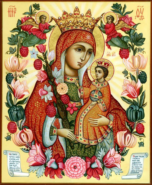 """16 апреля Православная Церковь совершает празднование в честь иконы Богородицы  """"Неувядаемый Цвет """" ."""