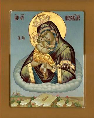 Почаевская икона Божией Матери. Галерея икон Щигры.