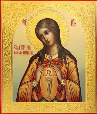 В родах Помощница икона Божией Матери. Галерея икон Щигры.