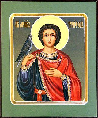 Святой мученик Трифон. Галерея икон Щигры.