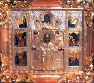 Резной образ святителя Николая Никола Можайский