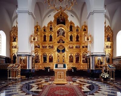 Иконостас храма Рождества Пресвятой Богородицы, Курская-Коренная пустынь.