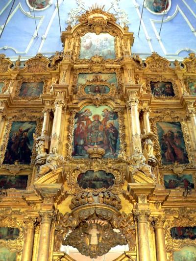 Иконостас Успенского собора Горицкого монастыря.