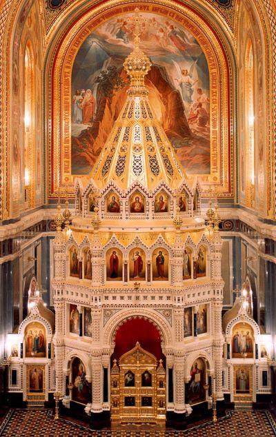 Иконостас храма Христа Спасителя, г. Москва.