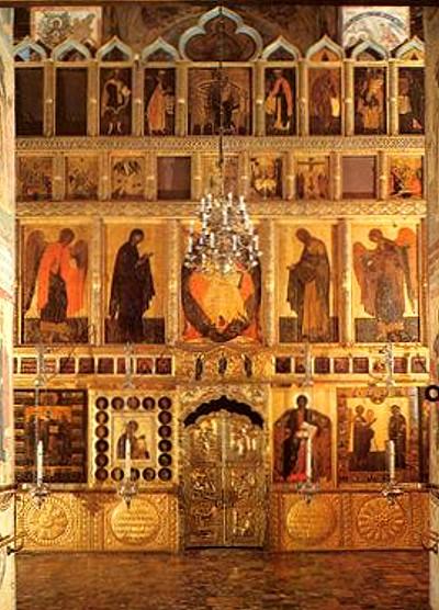 Иконостас Благовещенского собора в Кремле, г. Москва.